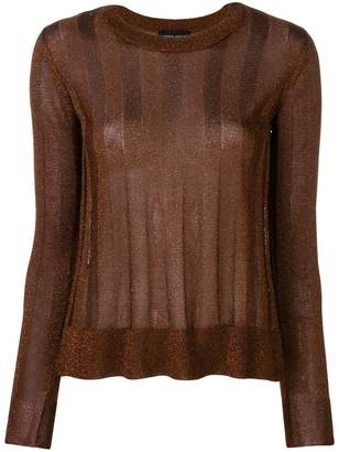 Roberto Collina striped long-sleeve sweater