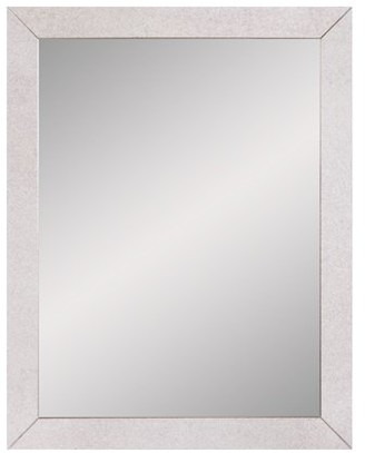 "Beveled Wall Accent Mirror With Antiqued Mirror Panel Border 22""x28"" by Patton Wall Decor"