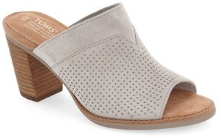 Women's Toms 'Majorca' Peforated Mule $97.95 thestylecure.com