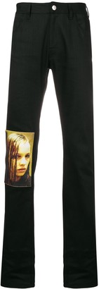 Raf Simons patch tailored trousers