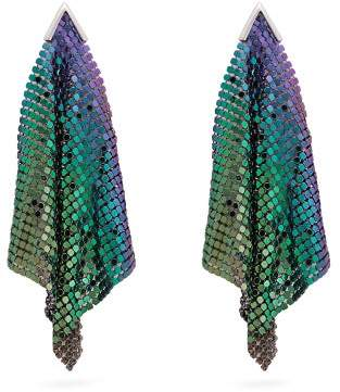 Christopher Kane Iridescent Chainmail Drop Earrings - Womens - Purple Multi