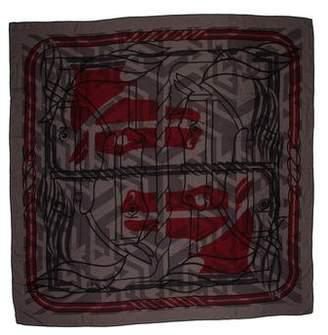 Hermes Quadrige Cashmere Silk Shawl