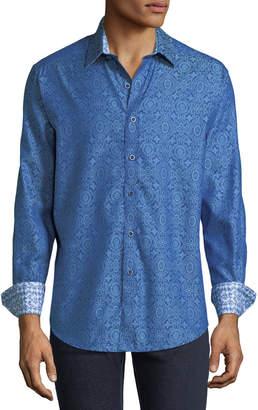 Robert Graham Men's Danvers Jacquard Woven Sport Shirt
