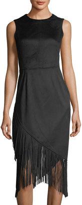 RACHEL Rachel Roy Crisscross Faux-Suede Fringed Dress $99 thestylecure.com