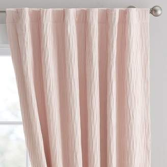Pottery Barn Teen Allover Pleated Blackout Drape, 96&quot, Powdered Blush