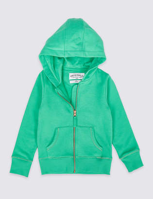 Marks and Spencer Cotton Rich Hooded Top (3-16 Years)