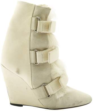 Isabel Marant Leather buckled boots