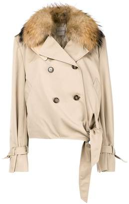 Each X Other fur collared jacket