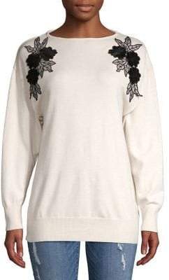 Dorothy Perkins Floral Batwing-Sleeve Sweater