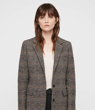 AllSaints Indra Check Coat