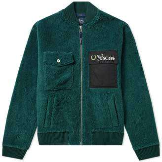 Fred Perry Authentic x Thames Heavy Fleece Bomber Jacket