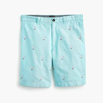 """J.Crew 9"""" Cotton Short With Embroidered Flamingos"""