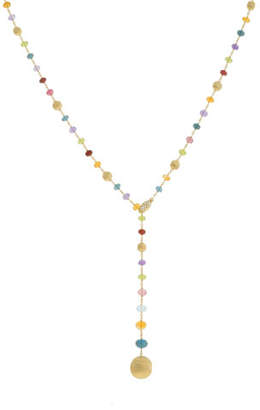 Marco Bicego Africa 18k Gold Diamond & Gem Lariat Necklace