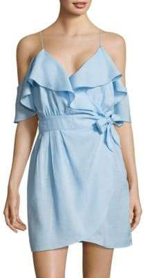 6 Shore Road Cold-Shoulder Ruffle Tie Dress