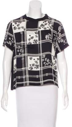 Mother of Pearl Printed Silk Top