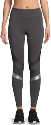 Neiman Marcus Aurum Powerful Leggings with Metallic Stripes
