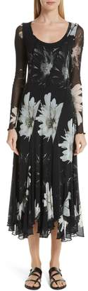 Fuzzi Floral Tulle Maxi Dress