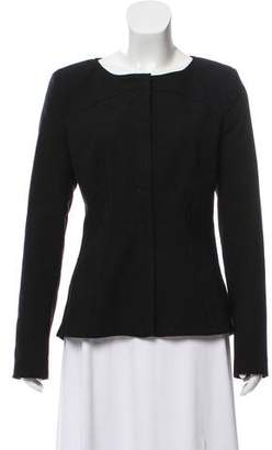 Zac Posen Leather-Accented Zip-Up Jacket w/ Tags