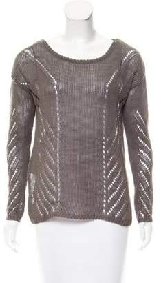 Elizabeth and James Textured Scoop Neck Sweater