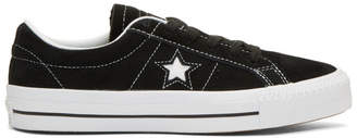 Converse Black Suede One Star Skate Sneakers