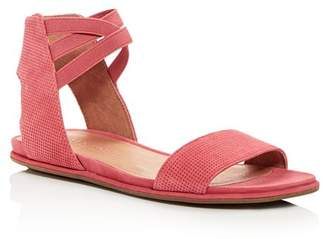 Kenneth Cole Gentle Souls by Gentle Souls Women's Lark-May Perforated Suede Ankle Strap Demi Wedge Sandals