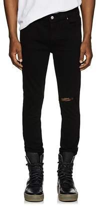RtA Men's Leather-Back Skinny Jeans
