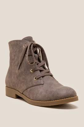 Indigo Rd Belly Lace Up Ankle Boot - Taupe