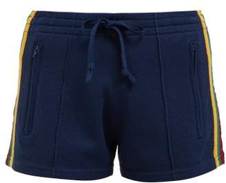 Etoile Isabel Marant Dorset Side Stripe Track Shorts - Womens - Navy