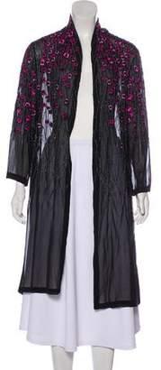 Haute Hippie Silk Embellished Cardigan w/ Tags