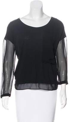 Rag & Bone Sheer-Paneled Knit Top