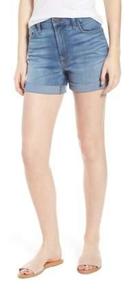 Jen7 Roll Up Denim Shorts