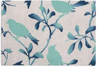 Loom Decor Placemats, Set of 4 Birds of a Feather - Pool