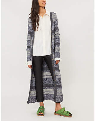 Free People Stripe-pattern knitted cardigan