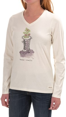 Life is good® Crusher V-Neck T-Shirt - Long Sleeve (For Women) $14.99 thestylecure.com