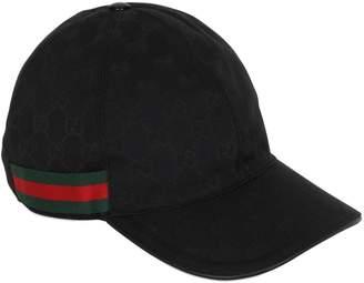 Gucci Gg Supreme Logo Canvas Baseball Hat