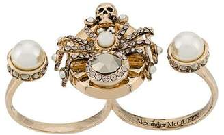 Alexander McQueen Spider double-ring