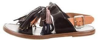 Etoile Isabel Marant Leather Tassel-Accented Sandals