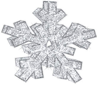 3D Snowflake with Lights Indoor/Outdoor Christmas Decoration, 6'6""