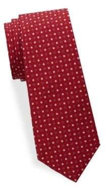 Saks Fifth Avenue Two-Tone Square Dot Silk Tie