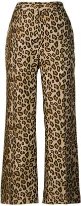 Alberto Biani leopard print cropped trousers