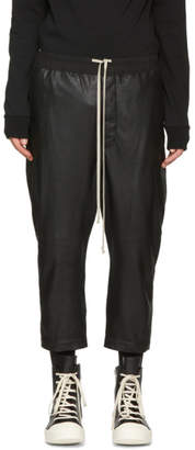 Rick Owens Black Leather Astaires Trousers