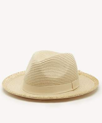Sole Society Straw Panama Hat w/ Fringe