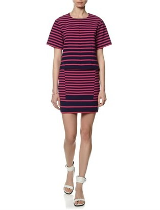 Thakoon Two Tone Striped Box Top
