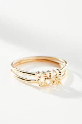 Studio Grun Peace and Love Ring Set