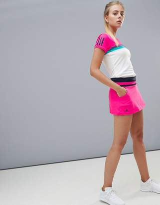 adidas Tennis Skirt In Hot Pink