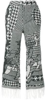 Tsumori Chisato fringed cropped trousers