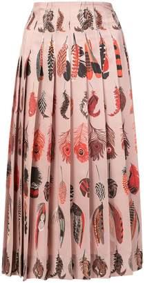 Altuzarra feather print skirt
