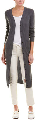 Vince Ribbed Cashmere Long Cardigan