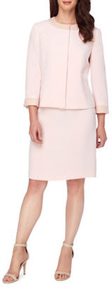 Tahari Arthur S. Levine Pearl Embroidered Jacket and Skirt Suit $320 thestylecure.com