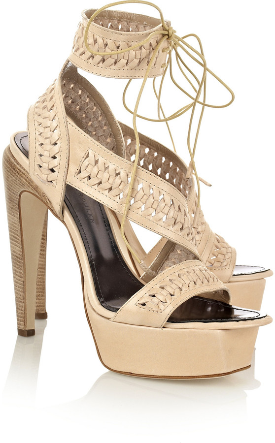 Proenza Schouler Perforated leather platform sandals